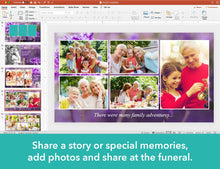 Purple Flowers Funeral Slide Show Template