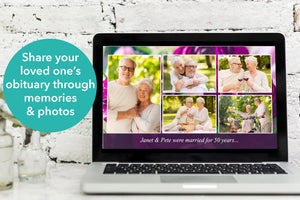 Share your loved one's obituary through memories and photos