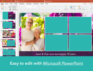 Easy to edit funeral slide show with PowerPoint