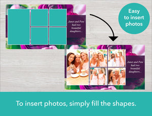 Easy to insert photos into memorial slideshow