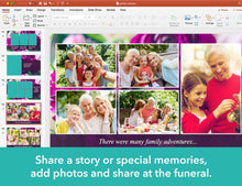 Share photos at a funeral service