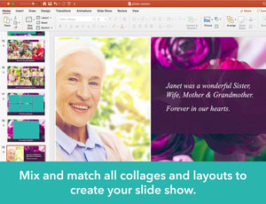 Create a funeral slide show