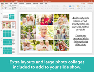Photo collages included for funeral slideshow
