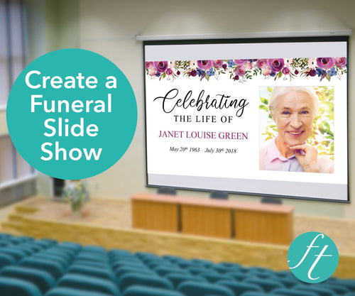 Funeral slide show in PowerPoint