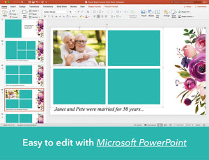 Edit funeral slide show in PowerPoint