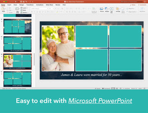 Easy to edit funeral slideshow with Microsoft PowerPoint