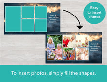 Easy to insert photos to your funeral slideshow