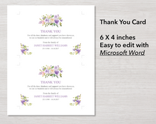4 Page Lilac Bouquet Program + Sign, Slide Show, Thank You & Invite