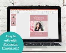 Edit pink Funeral sign in Powerpoint