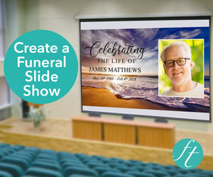 Funeral powerpoint with waves design