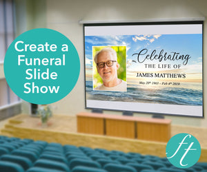 Beach funeral slideshow template