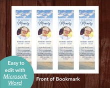 Funeral bookmark front