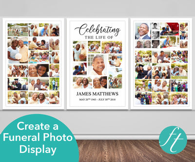 Classic Funeral Photo Display