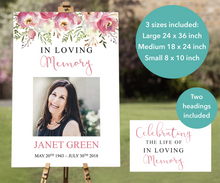Funeral welcome sign editable with Microsoft Powerpoint, perfect for a Celebration of Life service