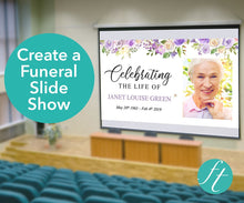 Create a funeral slideshow