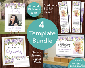 Lilac funeral template bundle
