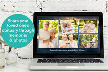 Share your loved ones photos using this editable funeral slideshow template
