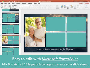 Easy to make funeral slideshow editable in Microsoft PowerPoint