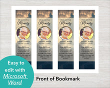 Funeral bookmark for men, perfect as a funeral keepsake