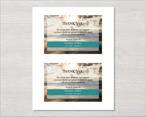 Mountain Top Funeral Thank You Card