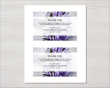 Purple Bouquet Funeral Thank You Card
