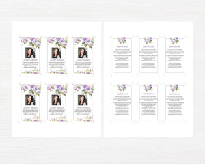 Editable funeral prayer cards
