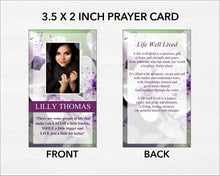 Printable funeral cards for an obituary service
