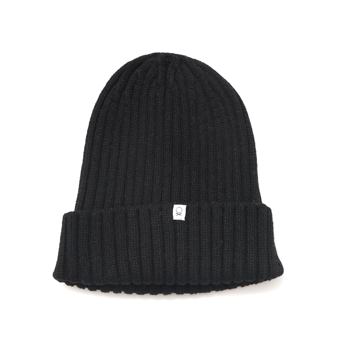 Recycled Cashmere Beanie - Black