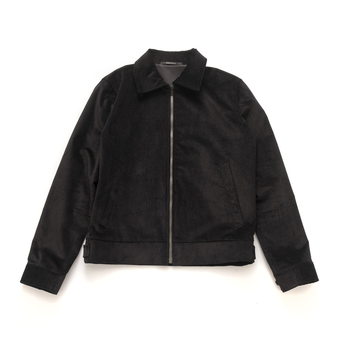 Bomber - Black Stretch Corduroy