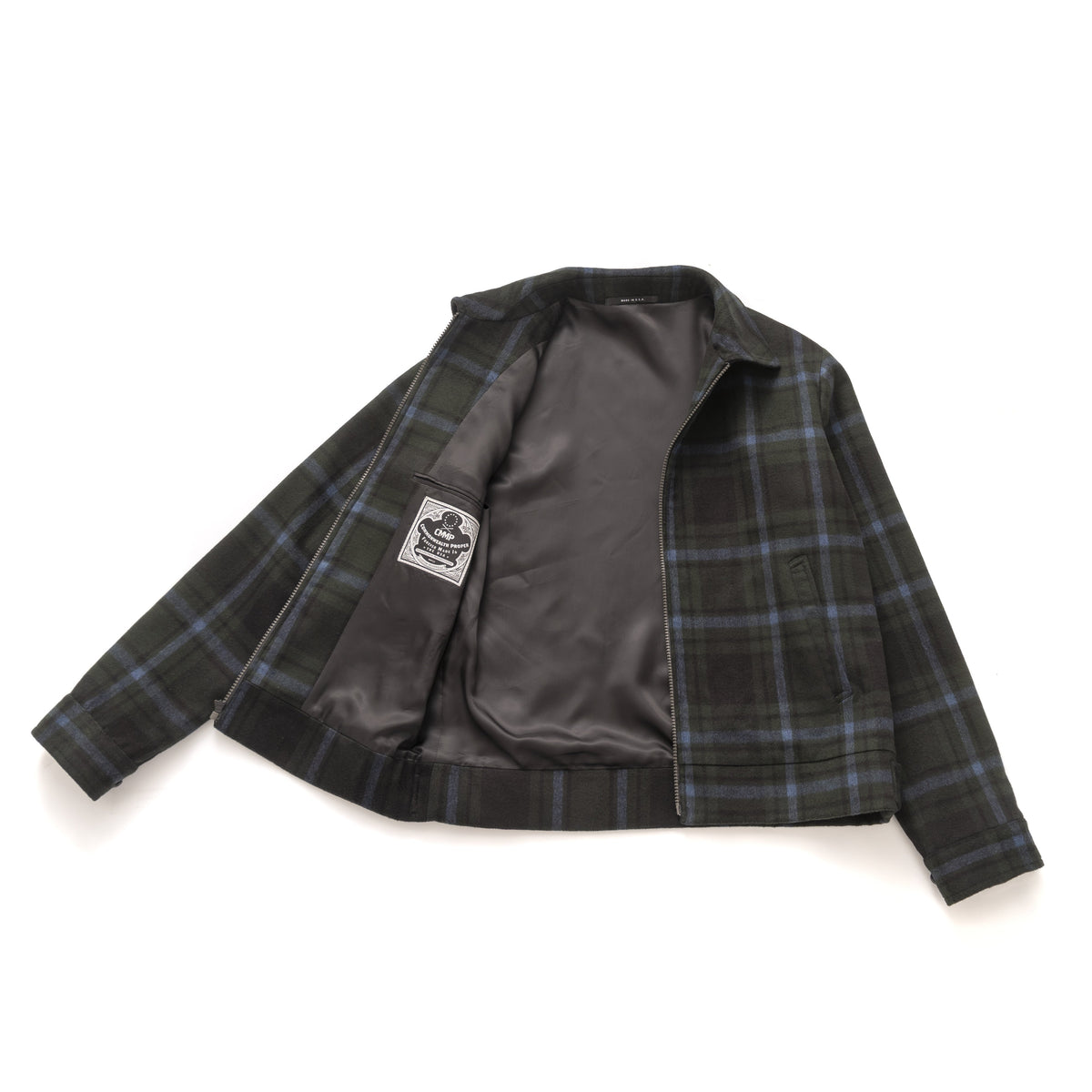 Bomber - Green Super Plaid