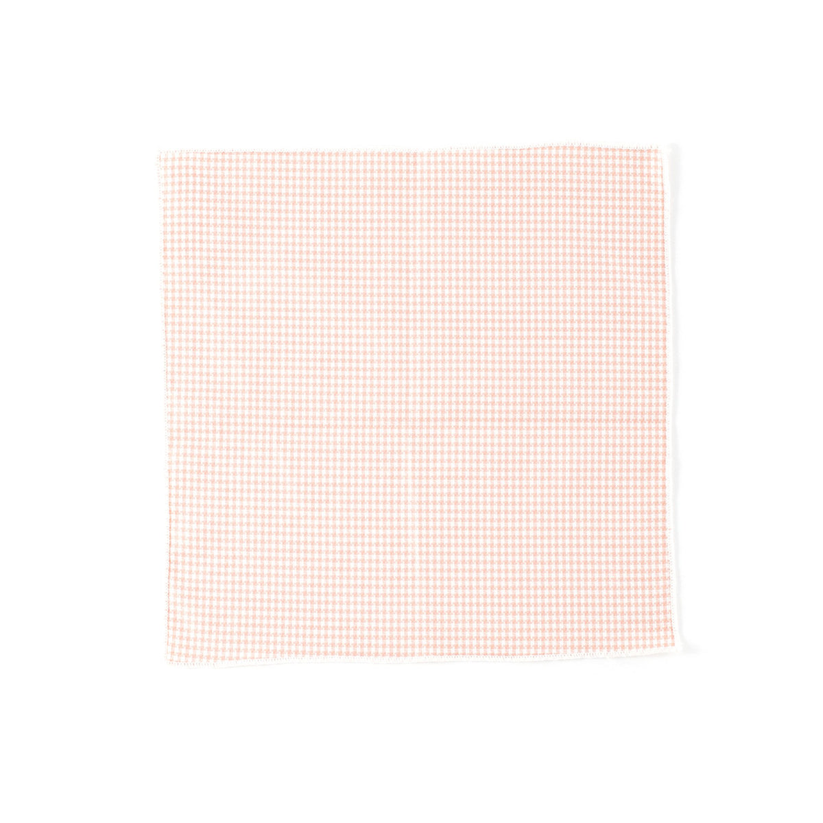 Salmon Mini Houndstooth Pocket Square