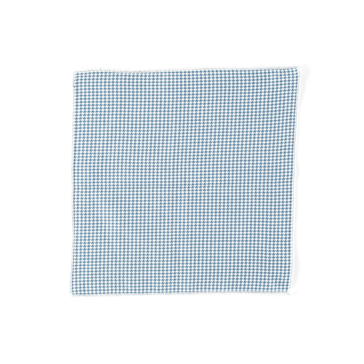 Blue Mini Houndstooth Pocket Square