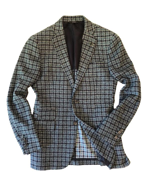 Green / Blue Gingham Blazer