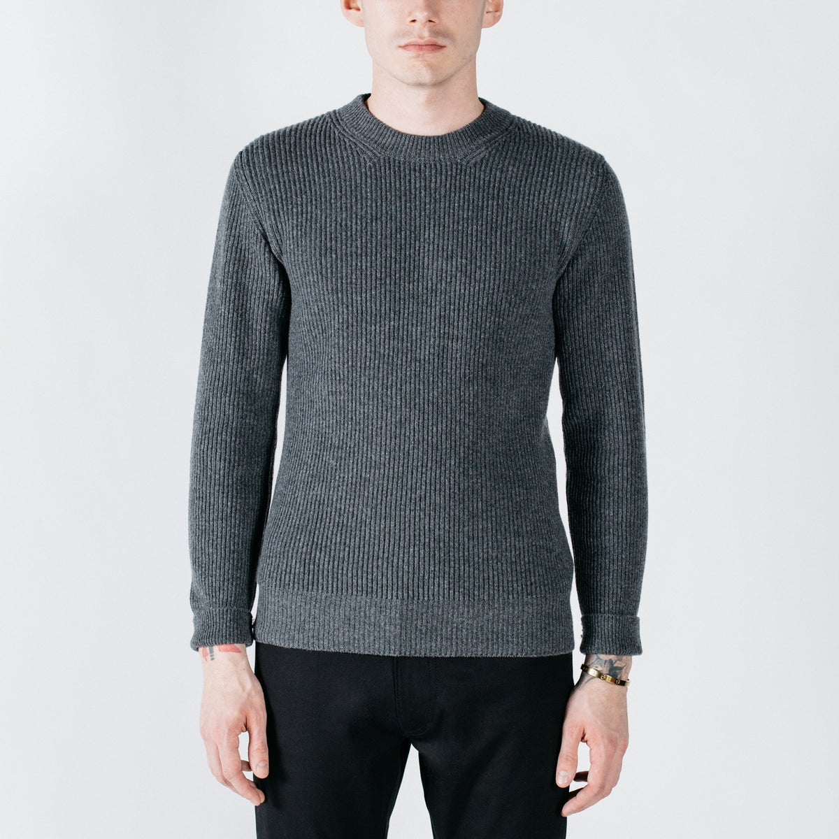 Smuggler Cashmere Crew Sweater - Darby Gray