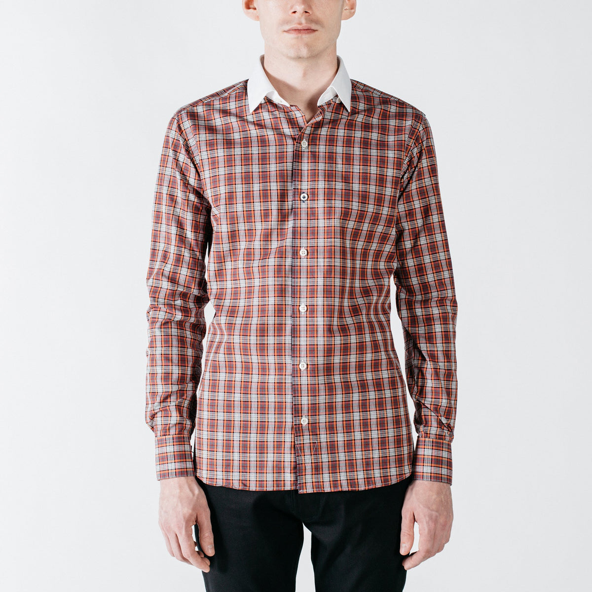 Grove Collar Plaid Shirt