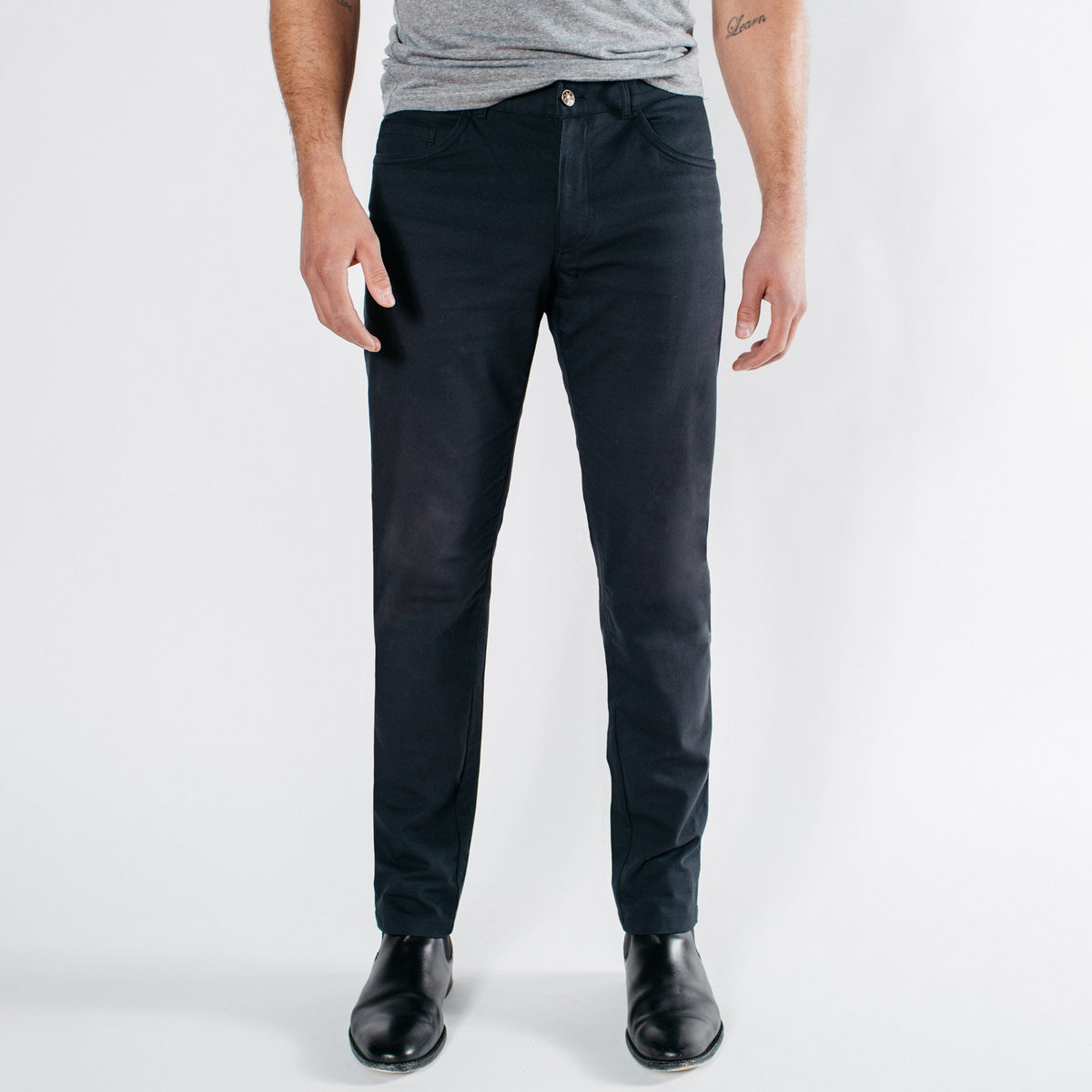 CORE // Black Tech 5-Pocket Pant