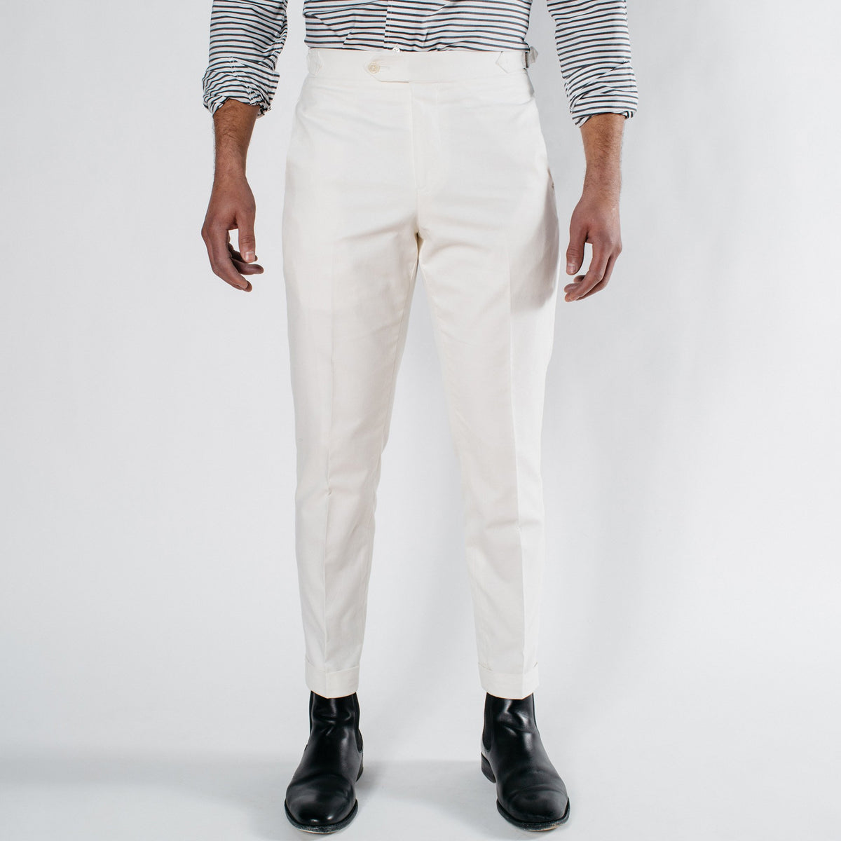 Hamptons White Cotton Pant