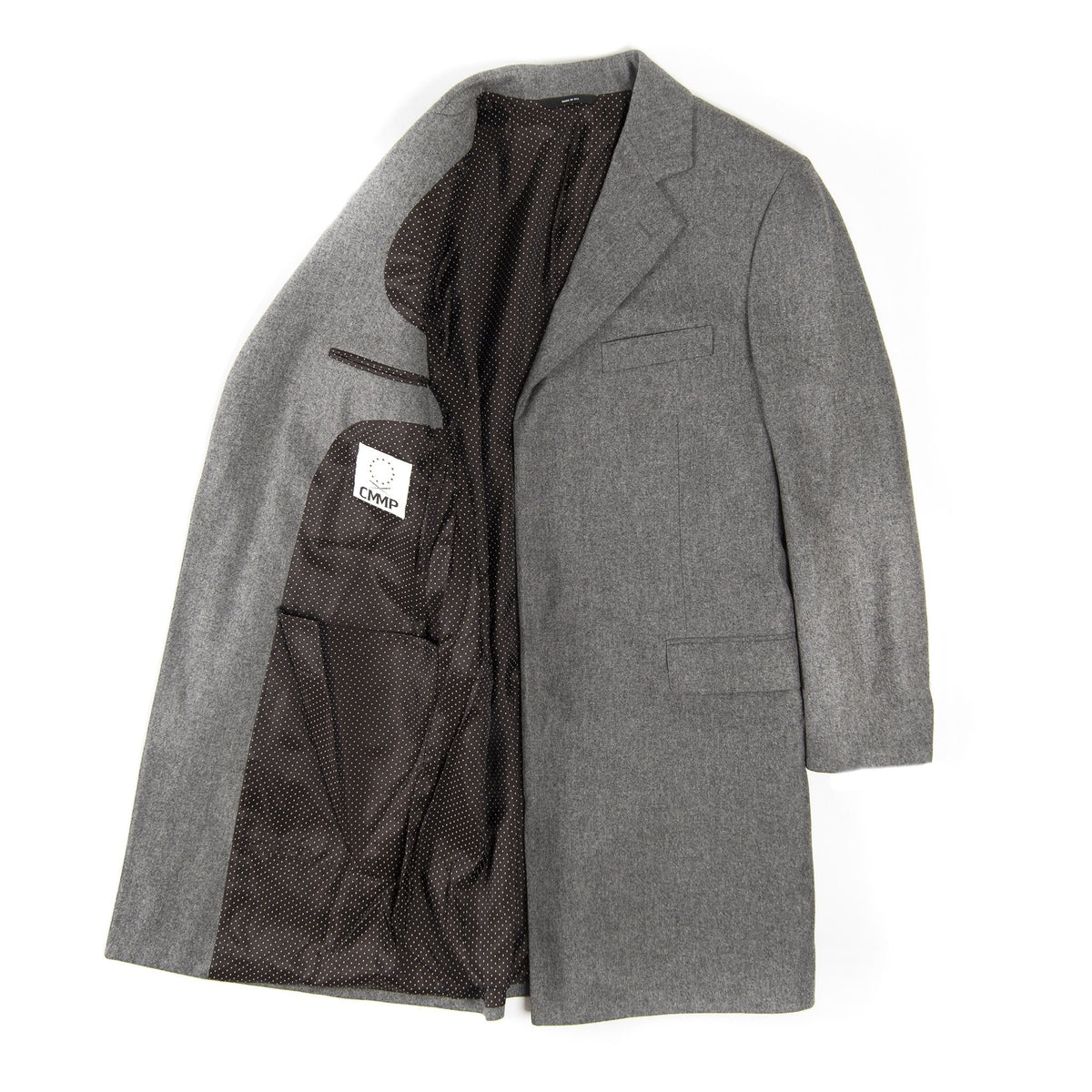 Topley Flyfront Topcoat - Grey