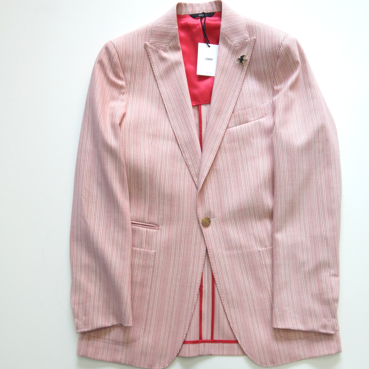Red / Cream Stripe Blazer