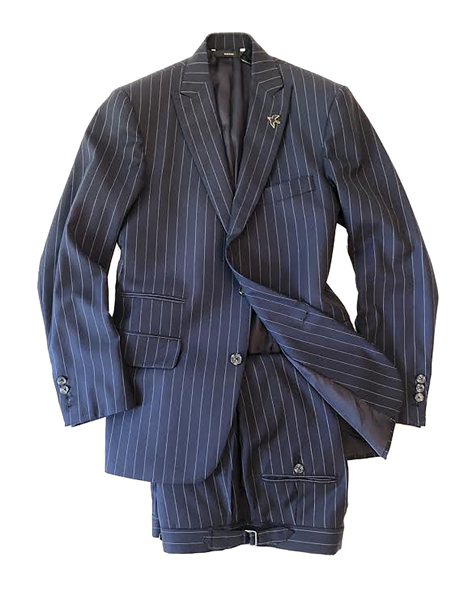 Navy / White Pinstripe Suit