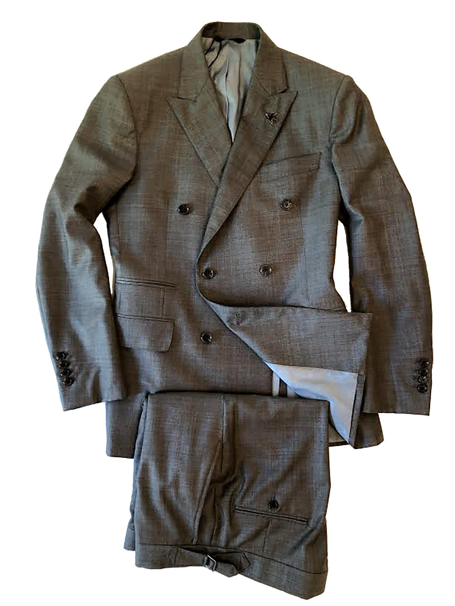 Tan / Grey End on End DB Suit