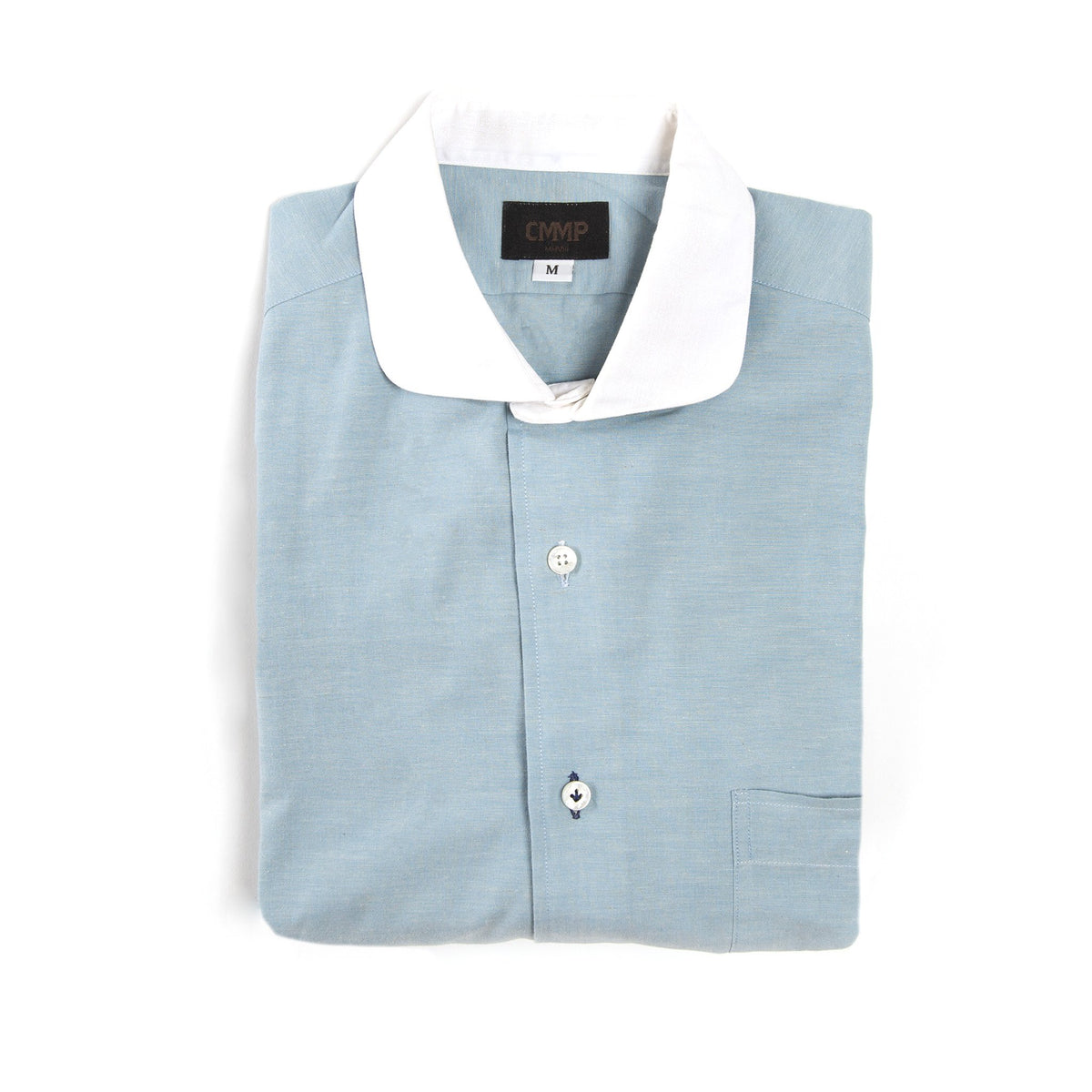 Japanese Sky Textured Cotton Shirt