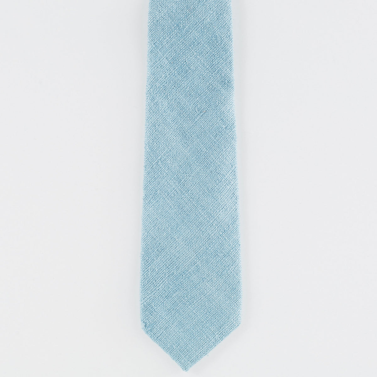 Blue Raw Silk Tie