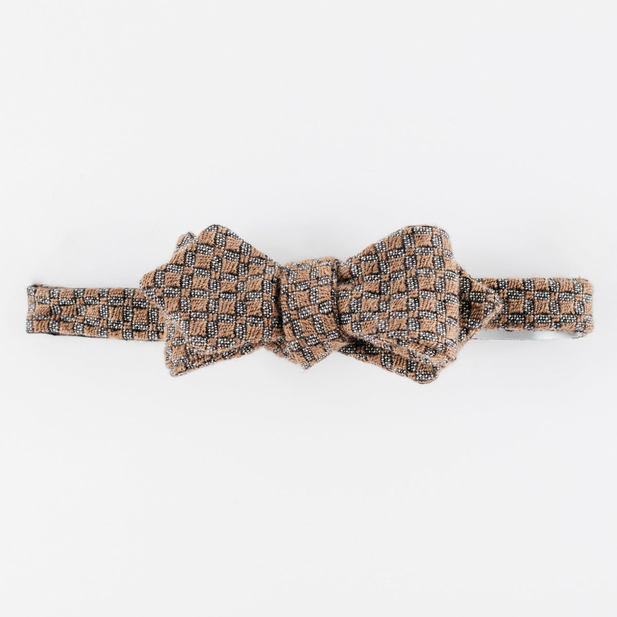 Brown Blood Diamond Bow Tie