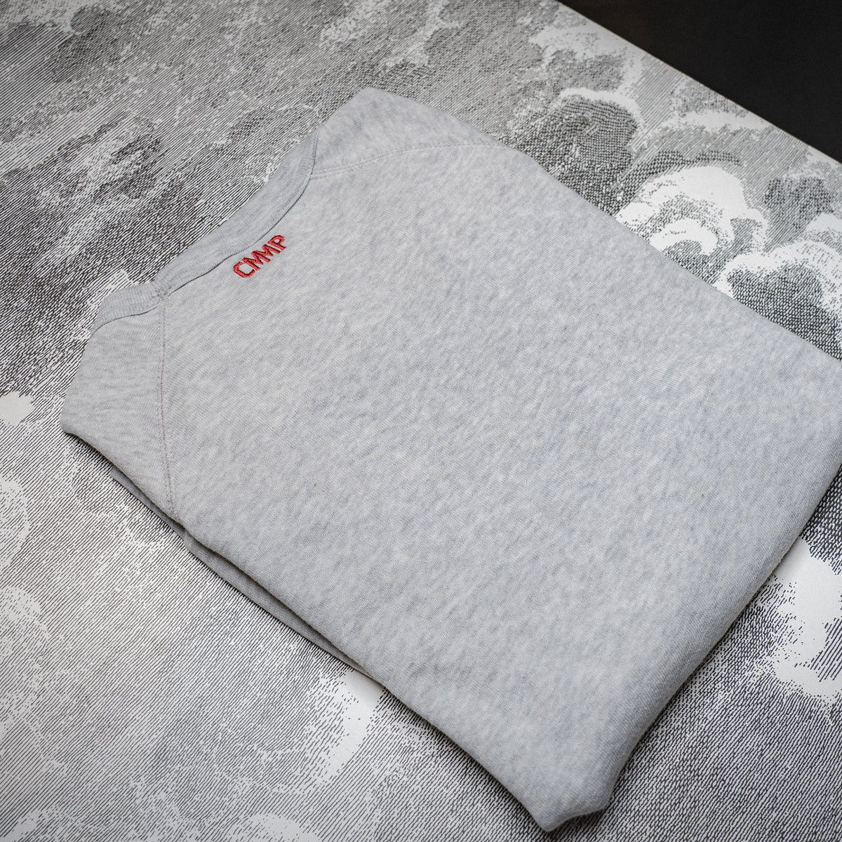 CMMP Color Block Sweatshirt - Lt. Heathered Grey