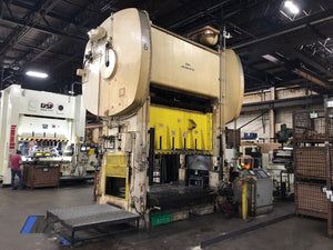 Bliss 500 Ton Straight Side Twin End Backshaft Driven Mechanical Press