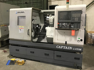 Used 2010 Okuma Captain L470M/650 Cnc Lathe Turning Center