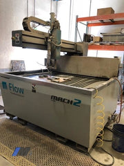 Used Flow Mach 2 1313B 4'x4' CNC Waterjet Cutting System