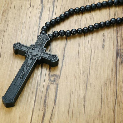 Religious Wooden Necklace