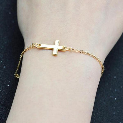 Gold & Silver Cross Bracelets